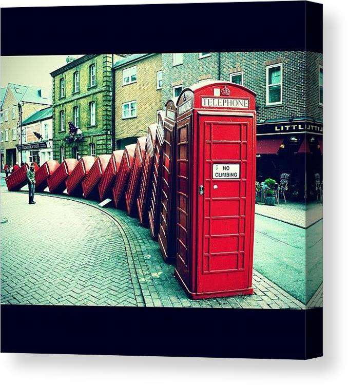 London Canvas Print featuring the photograph #photooftheday #london #british by Ozan Goren