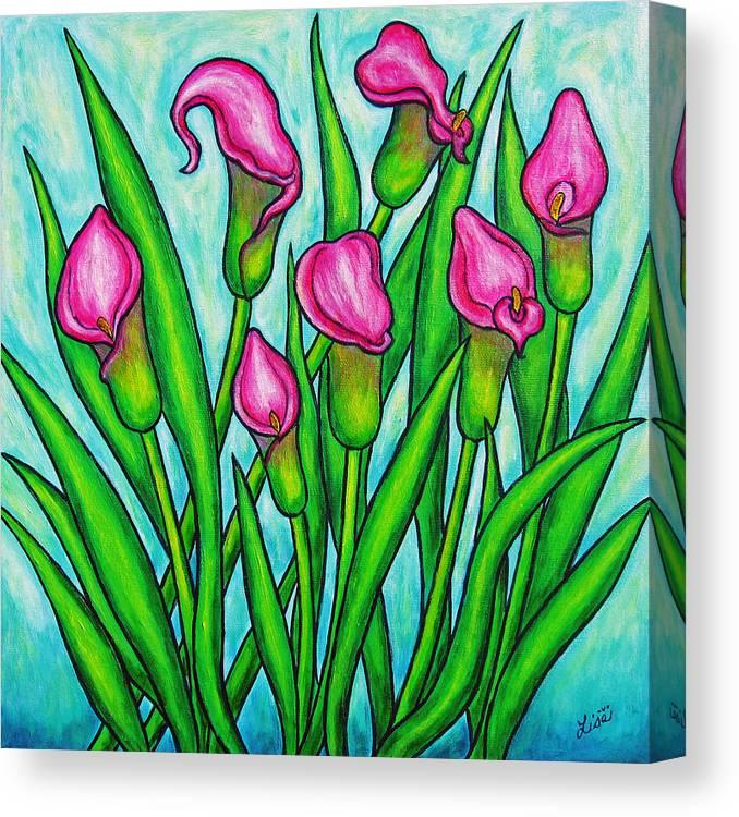 Lisa Lorenz Canvas Print featuring the painting Pink Ladies by Lisa Lorenz