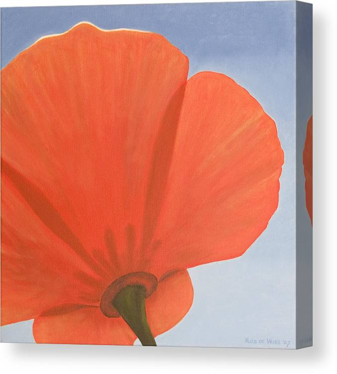 Flower Canvas Print featuring the painting Poppy by Rob De Vries