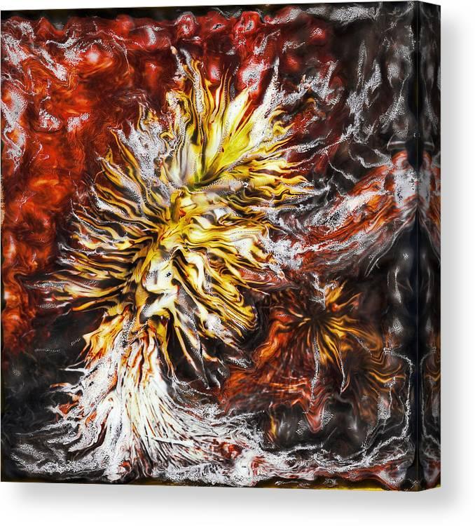 Paul Tokarski Canvas Print featuring the photograph Red Flame Yucca by Paul Tokarski