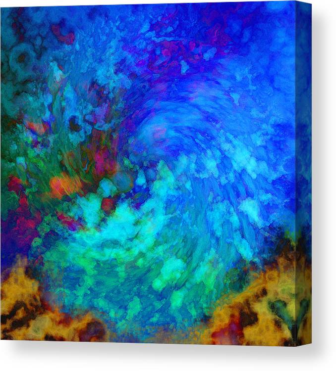 Water Canvas Print featuring the digital art Splash by Gae Helton