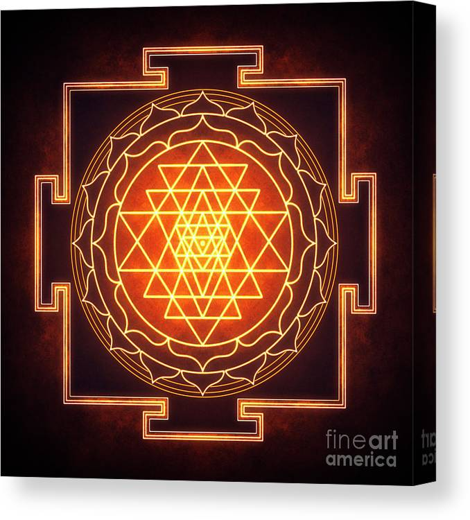 Sri Yantra - Artwork 11 Canvas Print