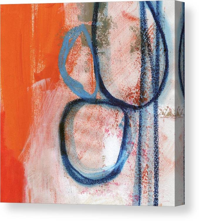 Contemporary Abstract Canvas Print featuring the painting Tender Mercies by Linda Woods