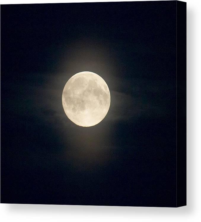 Lehtokukka Canvas Print featuring the photograph The Moon 2 by Jouko Lehto