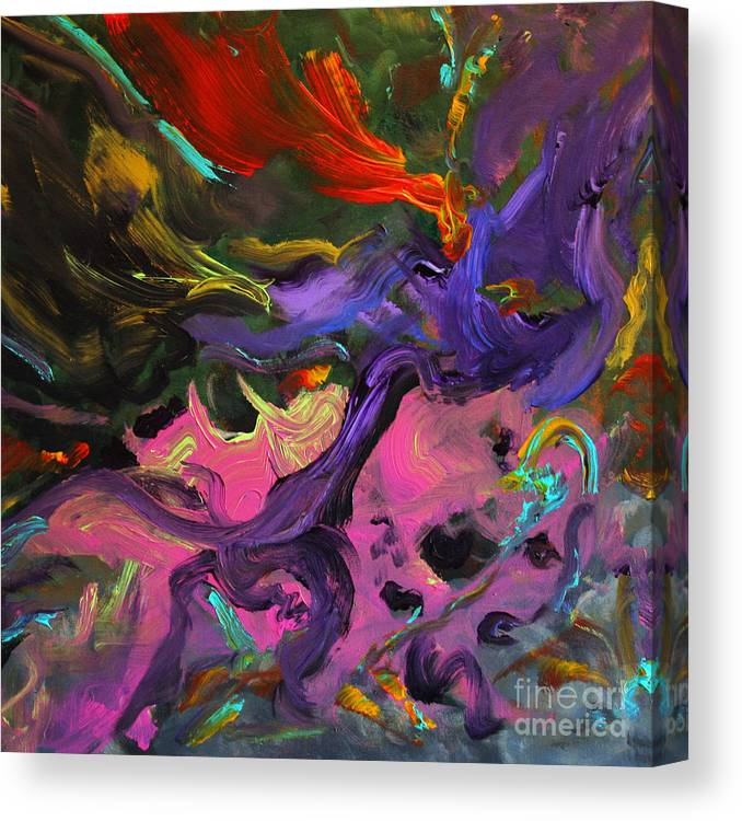 Abstract Canvas Print featuring the painting The Soul Within by Denice Rinks