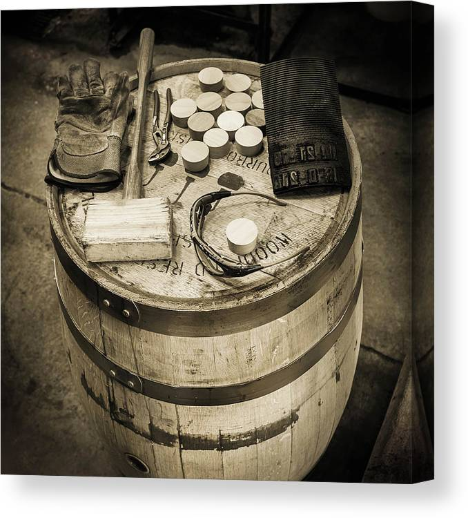Bourbon Barrels Canvas Print featuring the photograph Tools Of The Trade by Karen Varnas