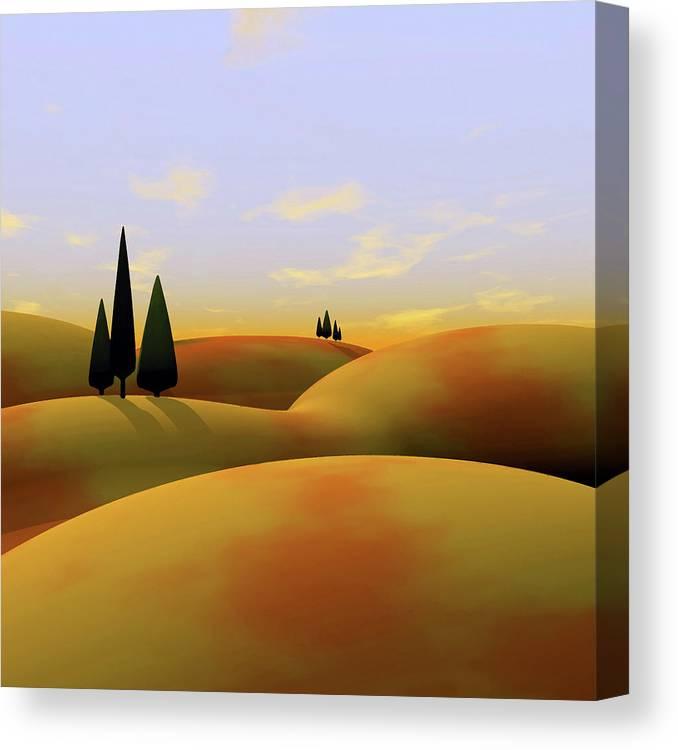 Hills Canvas Print featuring the digital art Toscana 3 by Cynthia Decker
