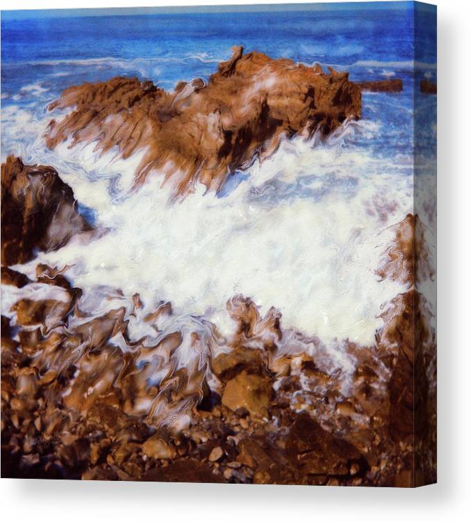 Paul Tokarski Canvas Print featuring the photograph Water Break by Paul Tokarski