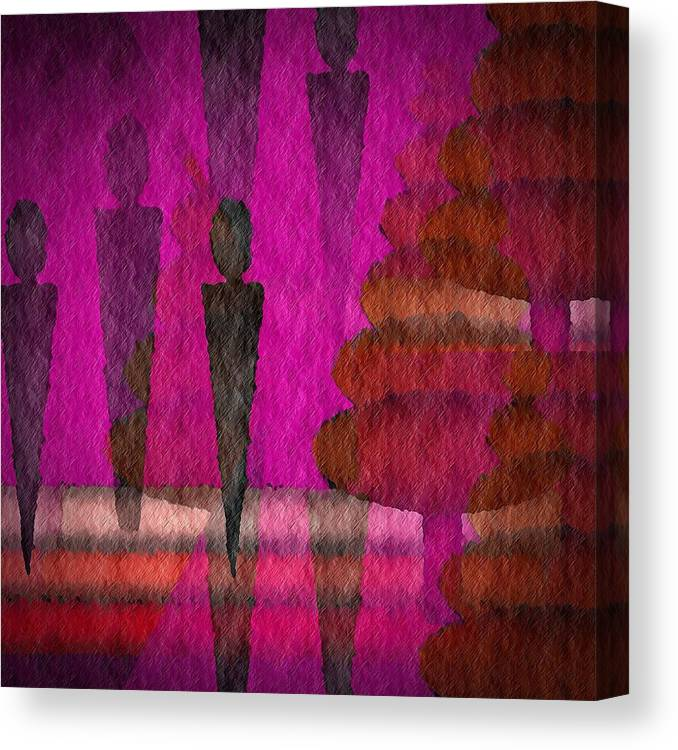 Man Canvas Print featuring the digital art We Stand In The Shadows by Terry Mulligan