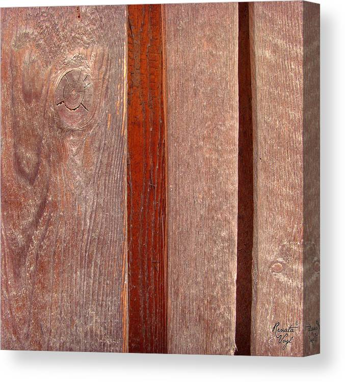 Struktur Canvas Print featuring the photograph Wood No 3 by Renata Vogl