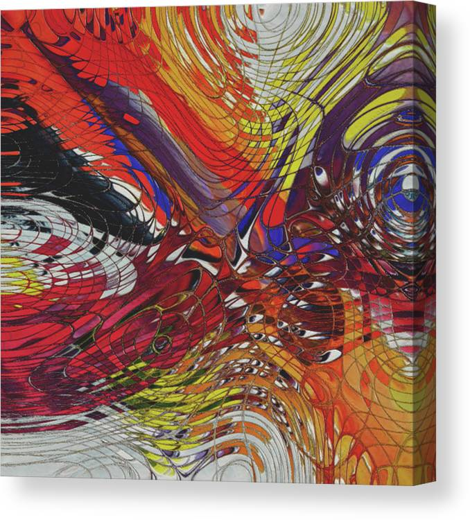 Metal Canvas Print featuring the painting My Colorful World Series by Jack Zulli