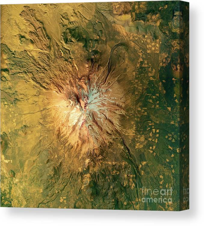 Mount Shasta 3d Render Topographic Map Color Canvas Print Canvas