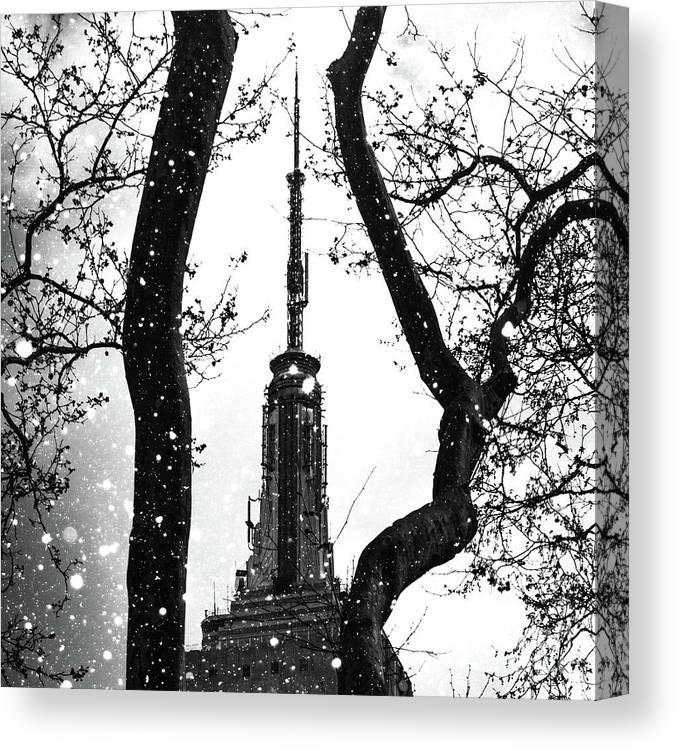 Snow Canvas Print featuring the digital art Snow Collection Set 07 by Az Jackson