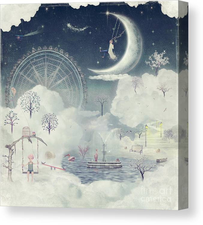Magic Canvas Print featuring the digital art The Illustration Shows The Fantastic by Natalia maroz