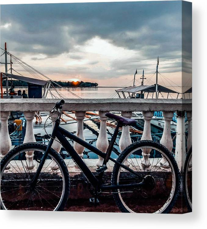 Bike Canvas Print featuring the photograph Traveller's Point by Dynz Abejero