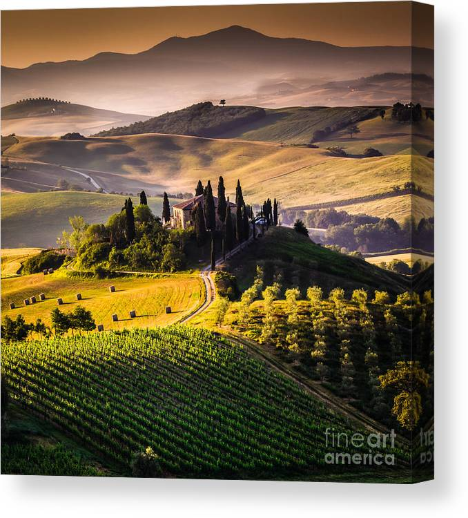 Country Canvas Print featuring the photograph Tuscany, Italy - Landscape by Ronnybas Frimages