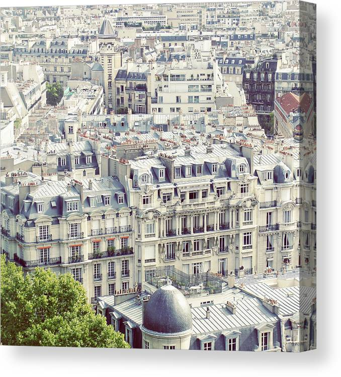 Treetop Canvas Print featuring the photograph View Of Roofs Of Paris by By Smaranda Madalina Cheregi