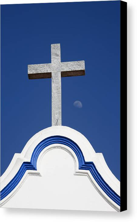 Photo Canvas Print featuring the photograph Cross Over The Church by Carmo Correia