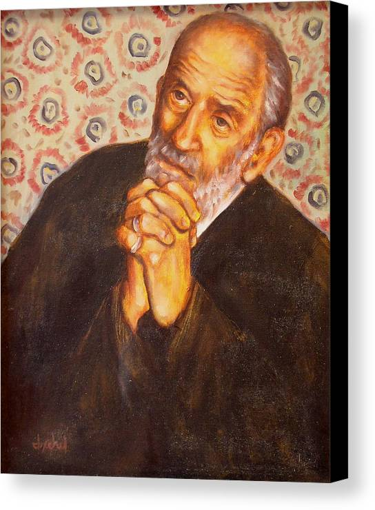 Philosopher Canvas Print featuring the painting The Philosopher by Ixchel Amor
