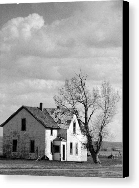 House Canvas Print featuring the photograph Broken Dreams by Allan McConnell
