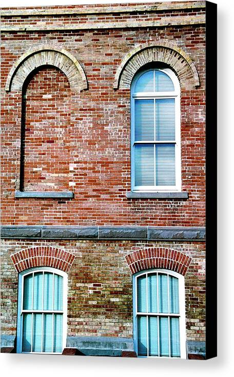Architecture Canvas Print featuring the photograph 3 Quarters by Caroline Clark