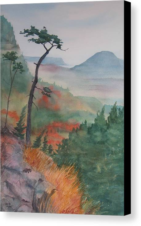 Early Morning Canvas Print featuring the painting Algoma Morning by Debbie Homewood