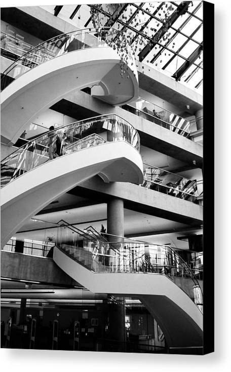 Architecture Canvas Print featuring the photograph Floating Stair by Caroline Clark