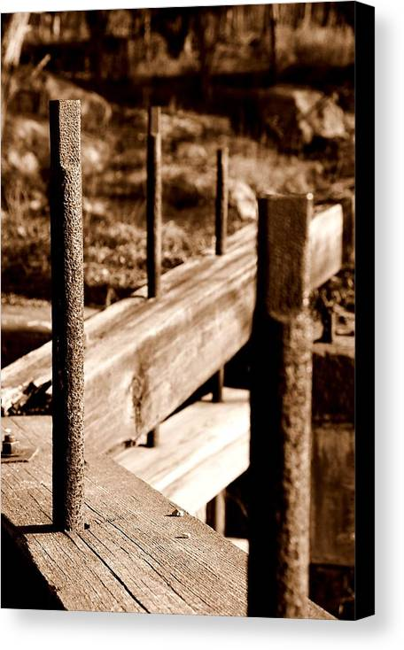 Wood Canvas Print featuring the photograph Rust And Wood by Caroline Clark