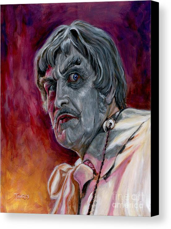 Abominable Dr. Phibes Canvas Print featuring the painting Phibes by Mark Tavares