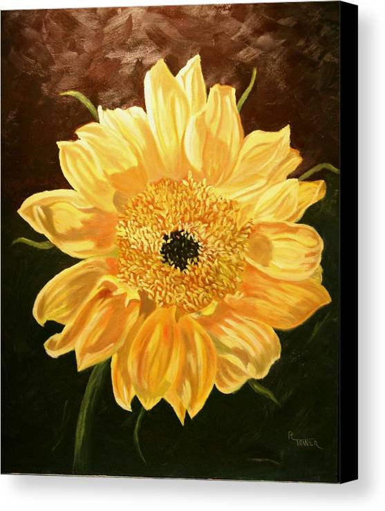 Sunflower Canvas Print featuring the painting Solar Power by Robert Tower