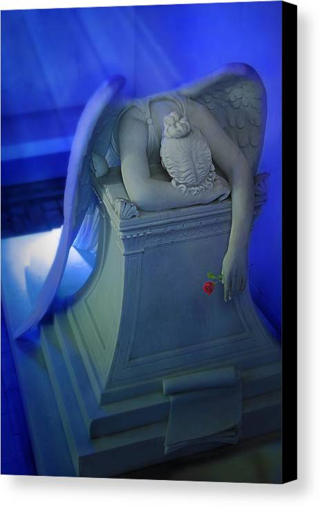 Canvas Print featuring the photograph Weeping Angel Front View by Don Lovett