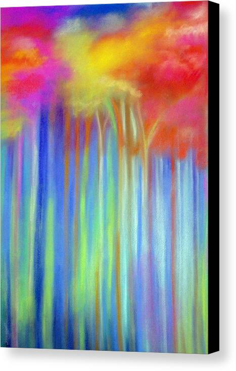 Landscpe Canvas Print featuring the painting Enchanted Forest by Maritza Bermudez