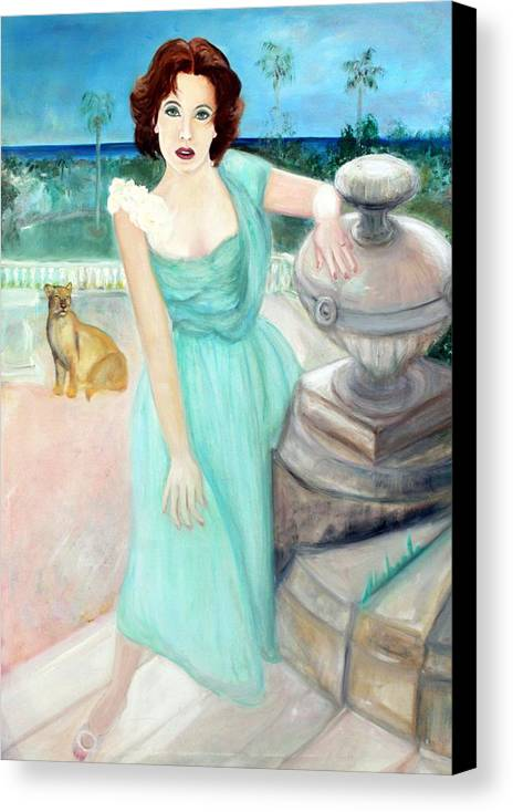 Portrait Canvas Print featuring the painting Enchanted by Michela Akers