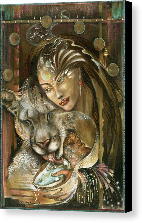 Wildlife Canvas Print featuring the painting Madonna by Blaze Warrender