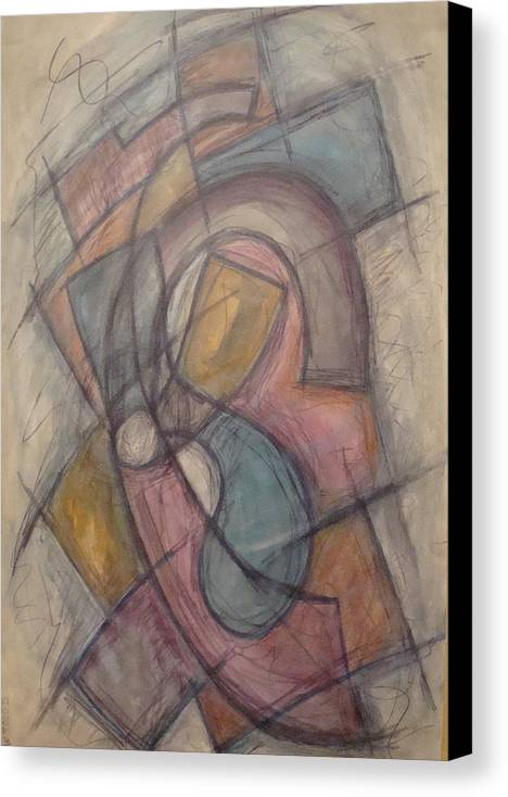 Pure Abstract Canvas Print featuring the painting Propeller by W Todd Durrance