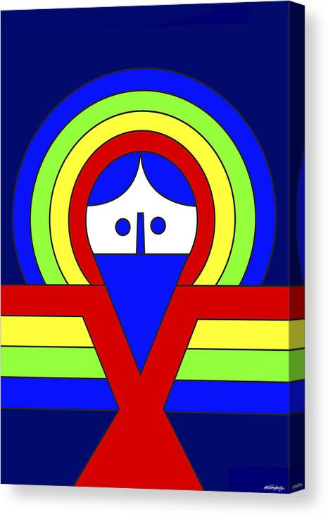 Christ Canvas Print featuring the digital art Christ by Asbjorn Lonvig