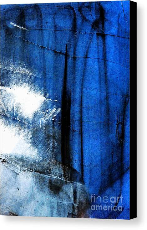 Dark Blue Canvas Print featuring the photograph Untitled by Vadim Grabbe