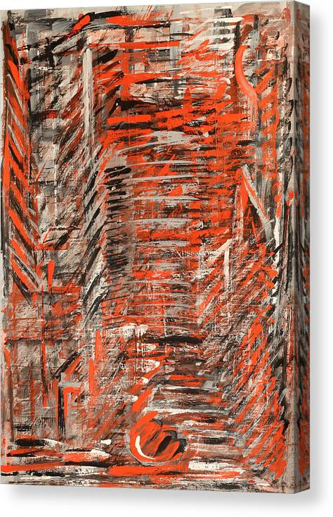 Abstract Canvas Print featuring the painting City by Natia Tsiklauri