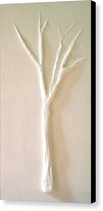 Tree Canvas Print featuring the painting Dawn by Kime Einhorn