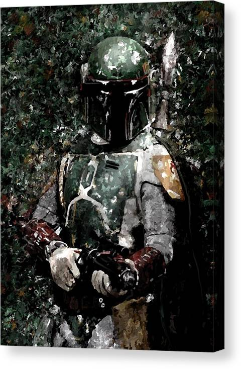 Boba Fett Portrait Art Painting Signed Prints available at laartwork.com Coupon Code KODAK by Leon Jimenez