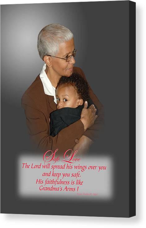 Grandparents Canvas Print featuring the photograph Safe Love by Richard Gordon