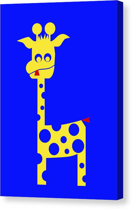 Tall Charlie Canvas Print featuring the digital art Tall Charlie by Asbjorn Lonvig
