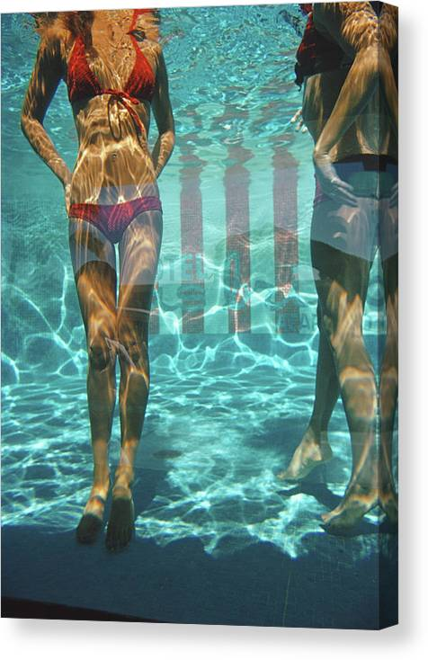 Underwater Canvas Print featuring the photograph Pool At Las Brisas by Slim Aarons