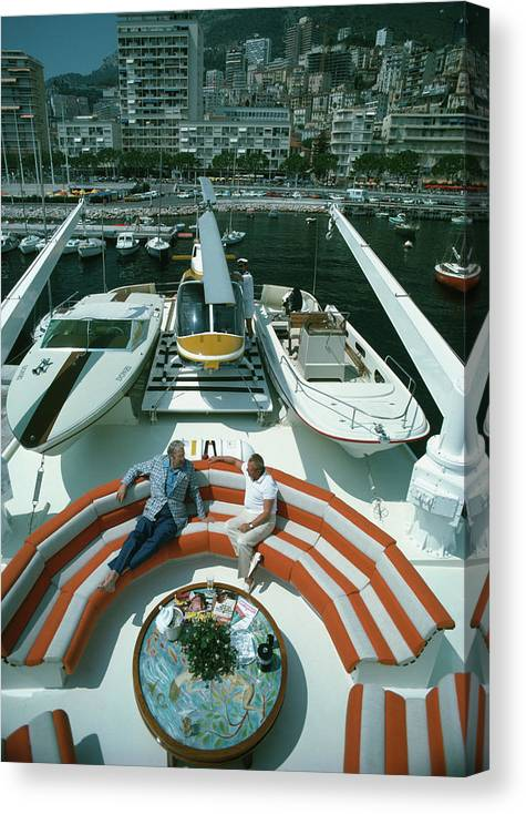 People Canvas Print featuring the photograph Transport Buffs by Slim Aarons