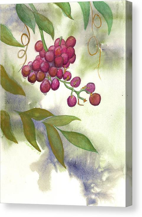 Rick Huotari Canvas Print featuring the painting Grapes Divine by Rick Huotari