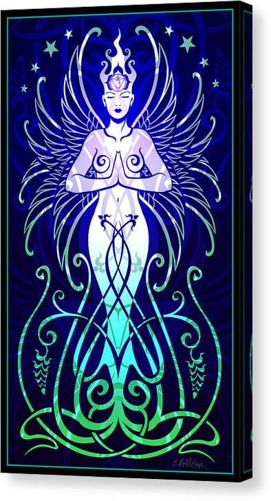 Goddess Canvas Print featuring the digital art Sacred State by Cristina McAllister