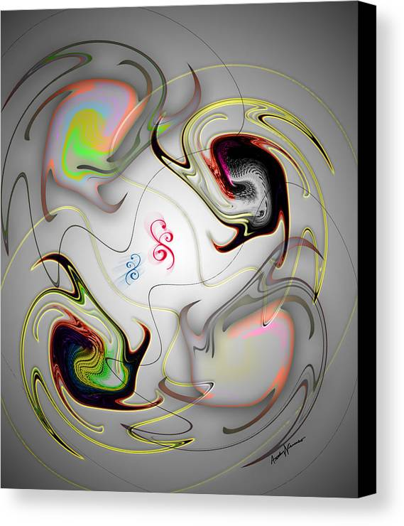 Abstract Canvas Print featuring the digital art Huevos Ranchero by Anthony Caruso