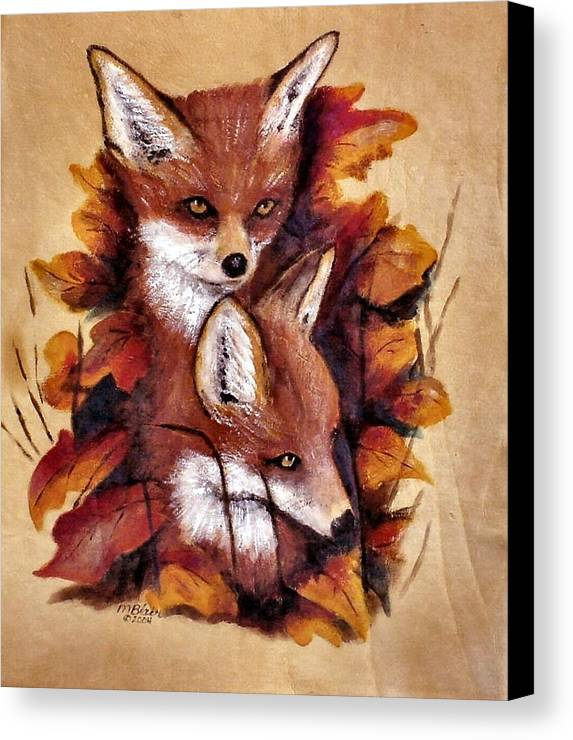 Animals Canvas Print featuring the painting On The Sly by Merle Blair