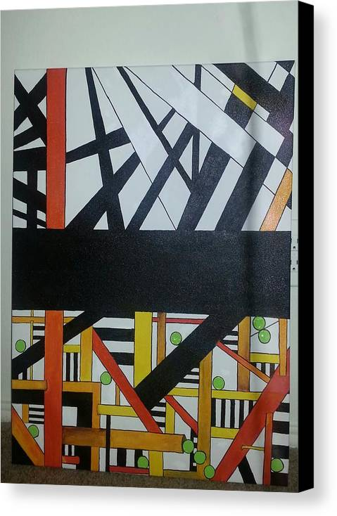 Bold Black Line Canvas Print featuring the painting Sophistication by Shaina Lamb