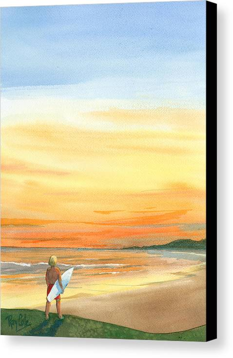 Carpinteria Sunset Canvas Print featuring the painting At Sunset by Ray Cole